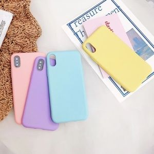 NEW iPhone 11/Pro/Max/XR/XS/X/7/8/Plus Solid Case